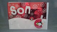 20 Marks And Spencer Handcrafted Son Christmas Cards With Badge RRP £55.00