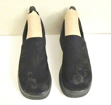 """Steve Madden Women's """"Savvy"""" Black Fabric Embroidered Platform Loafers Size 6.5B"""
