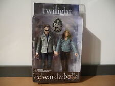 MOC Twilight Edward & Bella Action Figures 2009 Neca