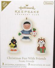 Hallmark 2009 Frosty Friends set of 3 Miniature Ornaments KOC Kansas City Show