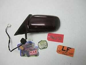 97 98 MAZDA MILLENIA DRIVER LEFT DOOR MIRROR GLASS MAROON POWER LF LH L CAR SIDE
