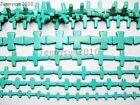 Blue Howlite Turquoise Gemstone Cross Loose Beads 16'' Strand Pick Sizes