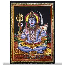 Indian Lord Shiva Wall Hanging Poster Throw Bedding Bedspread Yoga Mat Blanket
