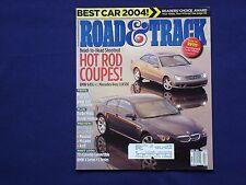 Road and Track Magazine   April 2004 BMW 645i, Mercedes CLK500