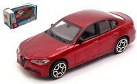Coche Auto SCALA1:43 Burago Alfa Romeo Giulia diecast miniaturas Rojo Nuevo