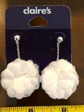 Claire/'s Claires Accessories oficial pendientes Blanco colgantes lágrima PVP £ 5