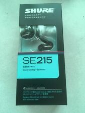 SHURE SE215-K Sound Isolating Black Earphones MicroDriver F/S with Tracking