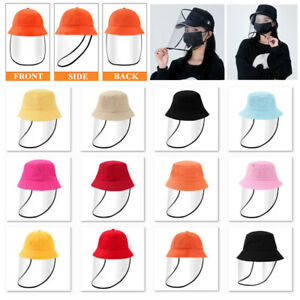Cute Detachable Full Face Shield Fisherman Hat Anti Spitting Bucket Cap For Kids