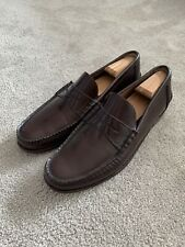 Meermin Mallorca Burgundy Leather Penny Loafers Size 11.5 UK 12.5 US $195 Spain