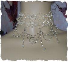 Elfique Collier Victorien Perle Nacrée Wedding Mariage Robe De Mariée Burlesque