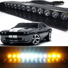 12 LEDs Car Truck Emergency Hazard Warning Beacon Flashing Strobe Light Bar Lamp