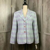 Women's CLIO 2 Suit NWT Career/Work Pretty Blazer 3 Buttons Front Pock Size 14