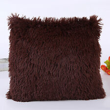 Winter Warm Fur Plush Throw Pillow Cases Sofa Waist Cushion Covers Home Decor