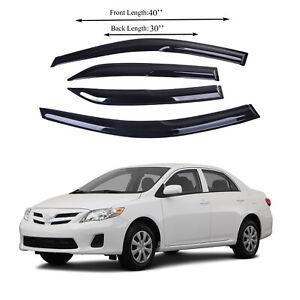 Fits for Toyota corolla 0913 Side Window Vent Visor Sun Rain Deflector Guard