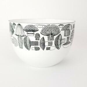 Kaj Franck Enamel Mushroom Bowl AS IS White Black Mixing Bowl Display Arabia