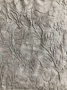"Shabby Chic Matelasse styled textured gray fabric piece - 68""x58"" BEAUTIFUL!"