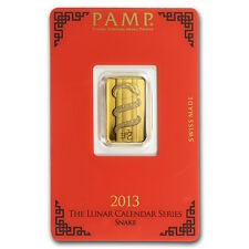 5 gram Gold Bar - PAMP Suisse Year of the Snake (In Assay) - SKU #88073
