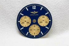 Breitling Chronograph Blue & Gold Wristwatch Dial - 26.5mm NOS Cal 11 1873