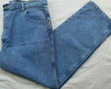 NEW Mens WRANGLER Blues Relaxed-Fit Blue Jeans Size 42x30 Straight-Legs