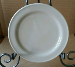 "Henn Pottery Cream bread and butter plate 7 1/2""  (#2)"