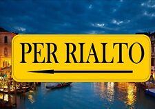 Venecia Italia signo calle reproducción signo calle por Rialto Venecia Canal signo