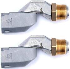 2 Pcs Fuel Swivel 34 Male X 34 Female Multi Plan Fuel Transfer Hose Swivel