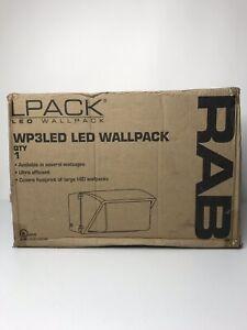 RAB WP3LED65N Wallpack 65W Neutral LED 120-277w / Glass Lens Bronze NWB