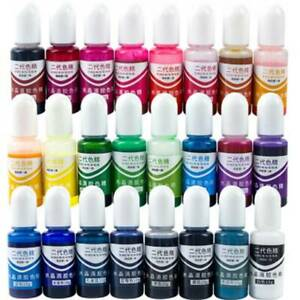 24 Colors  Alcohol Ink Diffusion Resin Pigment Kit Liquid Colorant Art DIY Nice