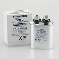3 mfd Capacitor Oval Condenser Compressor Motor Fan Start 370 440 Air Condition