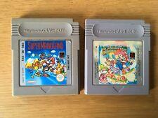 Super Mario Land 1 + 2 Nintendo Gameboy paquete de juegos PAL 6 monedas de oro