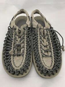 Keen Sandals 11.5 Gray Uneek Classic Two Cord Arch Support Lightweight Mens