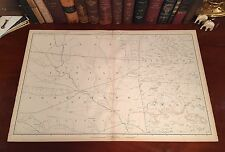 Original Antique Civil War Map Oklahoma INDIAN TERRITORY Cherokee Creek Shawnee