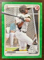 2020 Bowman Xavier Edwards Green Rookie RC 80/99 San Diego Padres BP-10