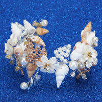 Beach Wedding Seashell Mermaid Crown Headband Bridal Tiara Party Decor W