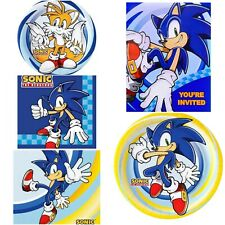 Sonic Birthday Party - Plates Napkins Invites Sonic Hedgehog Party Tableware