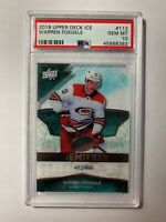 2018-19 Upper Deck Ice Premieres Rookie Warren Foegele /499 RC PSA 10 GEM MINT
