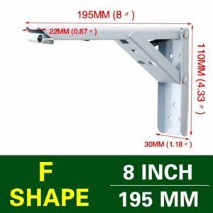 Shelf Bracket Wall-mounted Furniture Brackets Heavy Support Adjustable Tool 2pcs