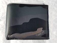 Coach Men's Double Billfold Wallet Metallic Camo Print F29136