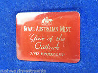2002 Royal Australian Mint Proof Set Wallet - No Coins - Year of the Outback