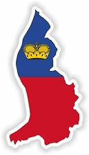 Liechtenstein LandKarte Flagge Aufkleber Silhouette Motorrad Auto Helm Laptop