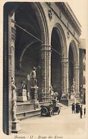 EARLY 1900's VINTAGE FIRENZE - LOGGE dei LANZI REAL PHOTO POSTCARD