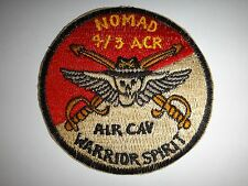 US Army 4th Squadron 3rd Armored Cavalry Regiment NOMAD WARRIOR SPIRIT Patch