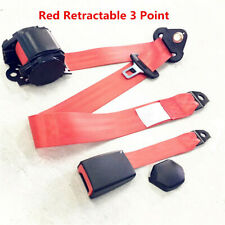 1x Adjustable Retractable Car 3 Point Seat Belt Lap & Diagonal Belt Universal