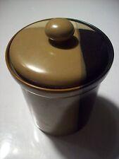 "Sango Gold Dust Black 5022 Coffee Tea Canister 5.75"" Tall w Lid Jar Storage Can"