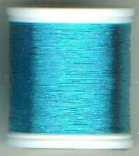 "2 Spools Obsolete Gudebrod Metallic Rod Winding Thread # 9037 ""A"" Ice Blue"