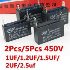 2 ~ 5PCS CBB61 450V 2.5UF 1/1.2/2UF 1.5UF 2PIN Condensador del Motor del ventilador de aire acondicionado