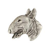 Schnauzer head high qauality Art Dog CA silver covered pin