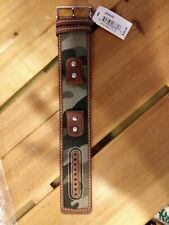 Fossil Watch Band Strap Brown and Camo insert Genuine Leather Authentic JR9925