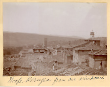 Italie, Perugia, Vue des toits, 1901, vintage citrate print Vintage citrate prin