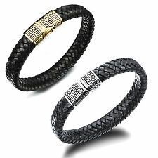 Unbranded Leather Stainless Steel Fashion Bangles